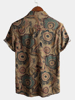 Men's Short Sleeve Retro Cotton Shirt