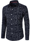 Men's Spring And  Autumn Cotton Long-sleeved Corrugated Shirt