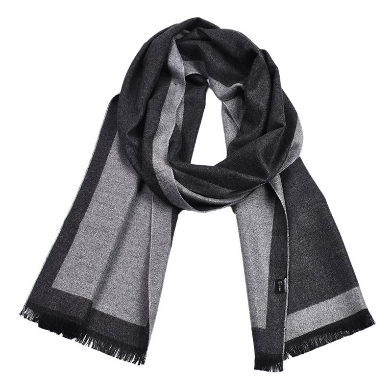 Men's Soft And Lightweight Warm colorblock Scarf