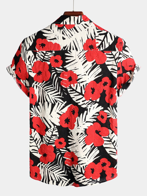 Men's Tropical Hawaiian Floral Shirt