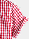 Men's Casual Pocket Plaid Cotton Shirt