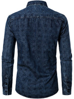 Men's Casual Cotton Regular Fit Long Sleeve Shirt
