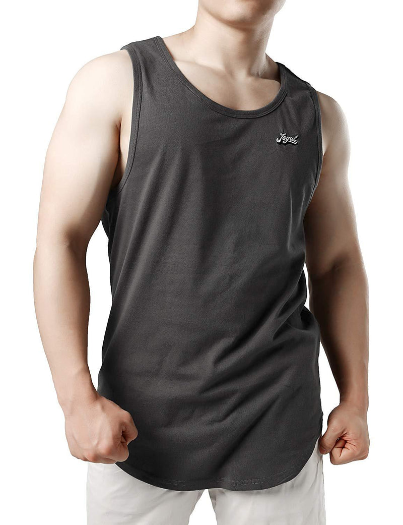 Men Curved Hem Muscle Shirts Vest