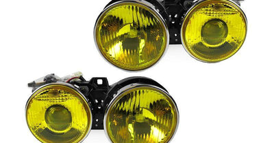 1984-1991 BMW E30 3 Series DEPO French Edition Yellow Glass Lens Euro Smiley Projector Headlights-Lighting-DEPO- Description Fitment • 1984-1991 BMW E30 3 Series Features • Rare French Edition Yellow Glass Lens - The Yellow Lens are made by the manufacturer, which they DO NOT use vinyl wrap OR film. Therefore, it will not fade over time. • City Light in the Low Beam Housing. • E-code Projector to provide a nice cut-off projector low beam output. • Special 9005/9006 Wiring Harness are Included fo