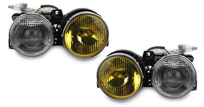 1984-1991 BMW E30 3 Series DEPO Yellow High Clear Low Glass Lens Euro Smiley Projector Headlights-Lighting-DEPO- Description Fitment • 1984-1991 BMW E30 3 Series Features • Rare French Edition Yellow High Beam / Clear Low Beam Glass Lens - The Yellow Lens are made by the manufacturer, which they DO NOT use vinyl wrap OR film. Therefore, it will not fade over time. • City Light in the Low Beam Housing. • E-code Projector to provide a nice cut-off projector low beam output. • Special 9005/9006 Wir