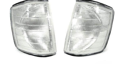 1984-1993 Mercedes S Class W201 190D / 190E DEPO Clear or Smoke Corner Signal Lights-Lighting-DEPO- Description Fitment • 1986-1993 Mercedes Benz W201 190D / 190E(US / Canadian Spec Vehicles) Features • Available in either Clear or Smoke Lens. • For smoke version, unique Smoke Lens is not tinted on or painted on, it is manufactured that way. Therefore, it will not fade. The smoke color shown may appear darker or lighter, due to photo lighting. • Simple Plug & Play - No Error after installation.