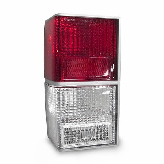 1984-1996 Jeep Cherokee XJ Red/Clear Rear Tail Light Set Made by DEPO