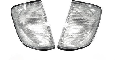 1986-1995 Mercedes E Class W124 DEPO Euro Clear or Smoke Corner Signal Lights-Lighting-DEPO- Description Fitment • 1986-1995 Mercedes Benz W124 E-Class(US / Canadian Spec Vehicles) Features • Available in Clear or Light Smoke Lens. • For Smoke Version, Unique Smoke Lens is not tinted on or painted on, it is manufactured that way. Therefore, it will not fade. The smoke color shown may appear darker or lighter, due to photo lighting. • Simple Plug & Play - No Error after installation. OEM-Like Fit