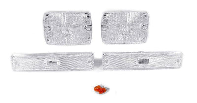 1987-1993 Jeep Wrangler YJ DEPO Clear or Smoke Bumper Signal Lights + Bumper Side Marker Lights-Lighting-DEPO- Description Fitment • 1987-1993 Jeep Wrangler YJ(US / Canadian Spec Vehicles) Features • Available in Clear or Smoke lens. • For Smoke Version, Unique Smoke Lens is not tinted or painted on, it is manufactured that way. Therefore, it will not fade. The smoke color shown may appear darker or lighter, due to photo lighting. • Simple Plug & Play - No Error after Installation. OEM-Like Fitm