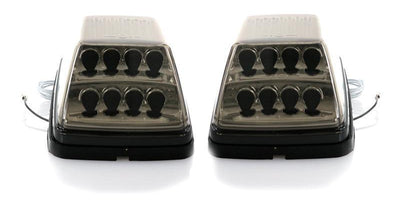 1990-2018 Mercedes W463 G Class Wagon REVI Smoke Lens LED Turn Signal-Lighting-Unique Style Racing- Description Fitment • 1990-2018 Mercedes Benz W463 G Wagon G-Class Features • Unique Smoke Lens is not tinted on or painted on, it is manufactured that way. Therefore, it will not fade. The smoke color shown may appear darker or lighter, due to photo lighting.• x8 LED Nodes provide a Amber Light Output for Turn Signal• x4 White LED Nodes on the side for additional feature (whenever you tap the + w