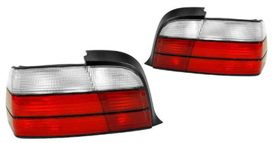 1992-1999 BMW E36 3 Series 2D Coupe / Convertible DEPO Red/Clear or Red/Smoke Tail Lights-Lighting-DEPO- Description Fitment • 1992-1999 BMW E36 3 Series 2 Door Coupe and Convertible Features • Available in Red/Clear Lens or Red/Smoke Lens Euro style Rear Tail Light. • For Smoke Version, Unique Smoke Lens is not tinted on or painted on, it is manufactured that way. Therefore, it will not fade. The smoke color shown may appear darker or lighter, due to photo lighting. • Simple Plug & Play - No Er