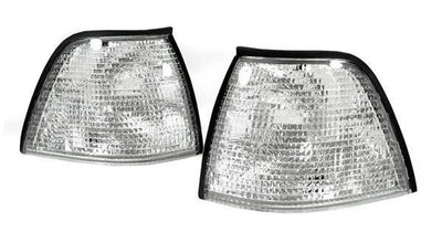 1992-1999 BMW E36 3 Series 3D / 4D Sedan DEPO Euro Clear or Smoke Corner Lights-Lighting-DEPO- Description Fitment • 1992-1999 BMW E36 3D Hatchback (compact) and 4D Sedan All Models Features • Available in Clear, Smoke, OR Dark Smoke. • For Smoke Version, Unique Smoke Lens is not tinted on or painted on, it is manufactured that way. Therefore, it will not fade. The smoke color shown may appear darker or lighter, due to photo lighting. • Simple Plug & Play - No Error after installation. • Direct