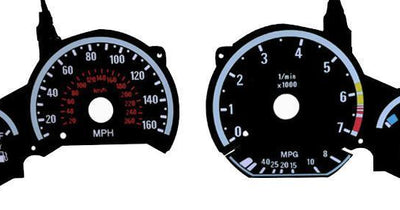 1992-1999 BMW E36 3 Series - E92 M3 Style Glow Gauge Face Overlay Set-Interior Accessories-Unique Style Racing- Description Fitment • 1992-1999 BMW E36 3 Series - All models EXCEPT 318ti and M3 Features • Gauges are E92 M3 look and style by day & glow white by night when the headlights are turned on. Contents • Brand NEW set of Glow Gauge Face(s) with Dimmer / Inverter Controller - Made by Unique Style Racing • Optional 4 Pieces Chrome Gauge Rings Set sold additionally. • Optional Black Carbon F