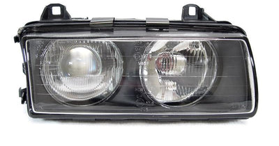 DEPO 1992-1999 BMW E36 3 Series ZKW / Hella Euro Ellipsoid Projector Headlight-Lighting-DEPO- Description Fitment • 1995-1999 BMW E36 318ti 3 Doors Hatchback • 1992-1999 BMW E36 3 Series Convertible • 1992-1999 BMW E36 3 Series 2 Door Coupe • 1992-1998 BMW E36 3 Series 4 Door Sedan Features • BMW E36 ZKW or Hella style EURO spec ellipsoid Glass projector headlights. • Hella style Ellipsoid headlight with special ridges/nipples on the glass lens is also available! ZKW style has no such ridges on