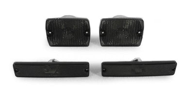 1994-1995 Jeep Wrangler YJ DEPO Clear or Smoke Bumper Signal Lights + Side Marker Lights-Lighting-DEPO- Description Fitment • 1994-1995 Jeep Wrangler YJ(US / Canadian Spec Vehicles) Features • Available in Clear or Smoke lens. • For Smoke Version, Unique Smoke Lens is not tinted or painted on, it is manufactured that way. Therefore, it will not fade. The smoke color shown may appear darker or lighter, due to photo lighting. • Simple Plug & Play - No Error after Installation. • Direct Replacement