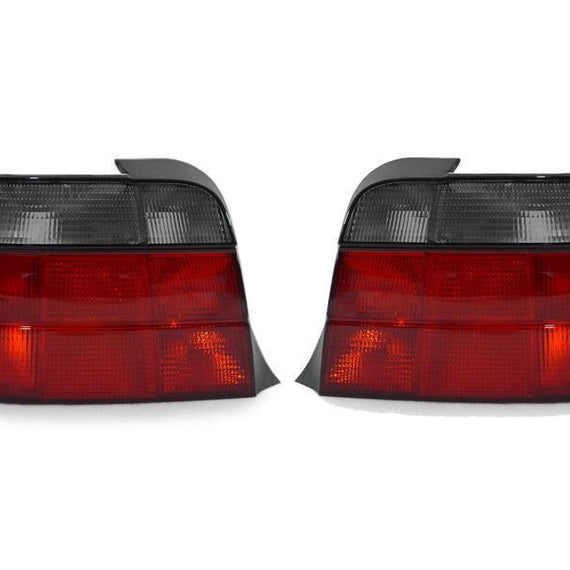 1995-1999 BMW E36 3 Series 3D Hatchback DEPO Red/Clear or Red/Smoke Tail Lights