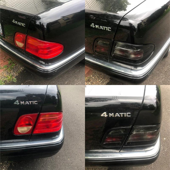 1996-2002 Mercedes E Class W210 4D Sedan Euro OE Facelift Style Smoke 4 Pieces Rear Tail Lights Made by DEPO