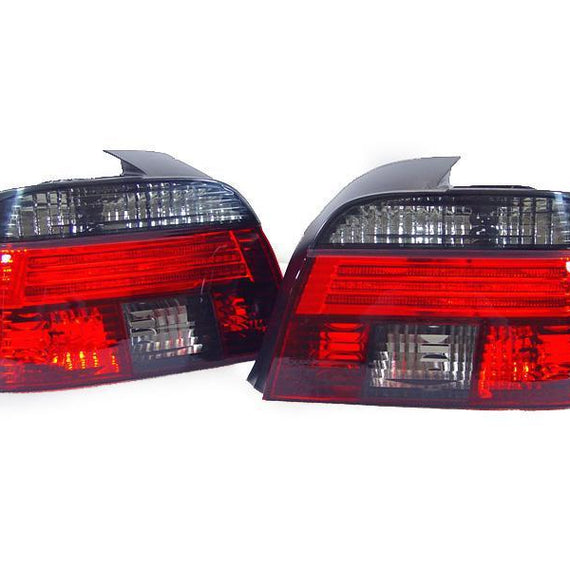 1997-2000 BMW E39 5 Series 4D Sedan Facelift Look DEPO Red/Clear or Red/Smoke Tail Light