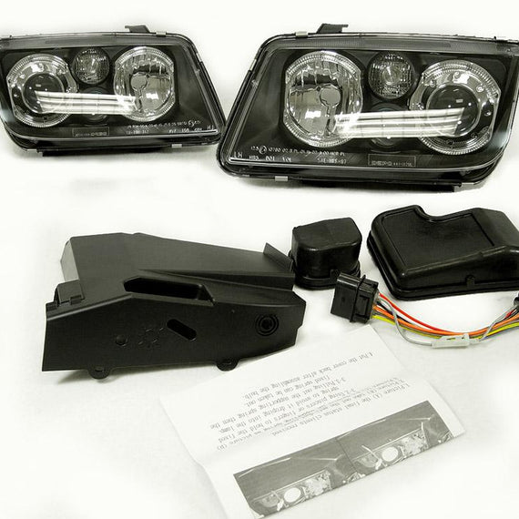 1999-2004 VW Jetta / BORA Mk. 4 DEPO Projector Angel Eyes Halo Headlight With Optional Xenon HID