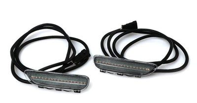 2000-2003 BMW E46 3 Series 2 Door Coupe/Cabrio & 2002-2006 M3 Clear or Smoke Front LED Side Marker Light Bumper Reflector-Lighting-Unique Style Racing- Description Fitment • 2000-2003 BMW E46 3 Series 2 Door Coupe and Convertible• 2001-2006 BMW E46 M3 2 Door Coupe and Convertible • 2004-2006 E46 2 Door Coupe and Convertible with ///M Sport Package Models (with ZHP Package) Features • Available in Clear or Smoke Lens Color• For Smoke Version, Unique Smoke Lens is not tinted on or painted on, it i