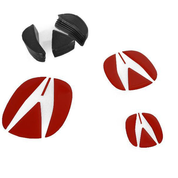 2004-2006 Acura TL Carbon Fiber OR Red Decal for Emblem Badge - Front Grill and Rear Trunk