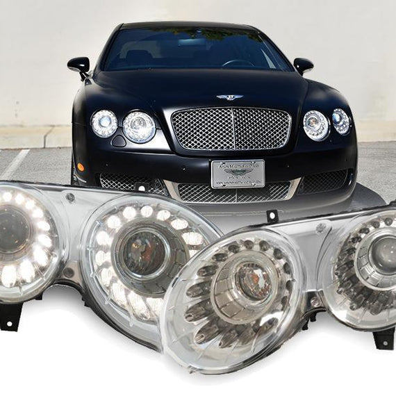 2004-2010 Bentley Continental / Flying Spur OEM Facelift Style LED Bi-Xenon Projector Headlight