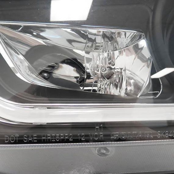 2011-2014 Dodge Charger LED Light Bar Black Halogen Projector Headlight