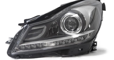 "2012-2014 Mercedes Benz C Class W204 USR Edition Projector Headlight with White LED Strip DRL and Switchback Amber LED Turn Signal for Halogen Model made by DEPO-Lighting-DEPO- #matty {padding: 10px;width: 100%;height: auto; background-color: #eeeeee;}#matty p{font-family: Gotham, ""Helvetica Neue"", Helvetica, Arial, ""sans-serif"";font-size: 13px;}#matty h1{font-family: Gotham, ""Helvetica Neue"", Helvetica, Arial, ""sans-serif"";font-size: 18px; color: #CC9900;}#matt {padding: 10px;width: 100%;height"