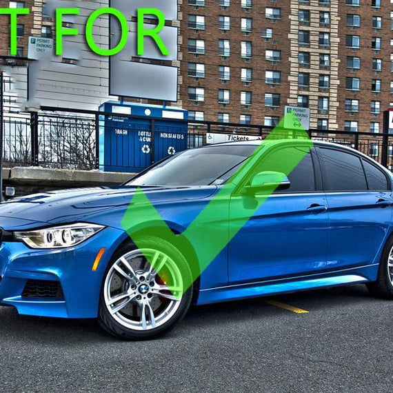 2012-2015 BMW 3 Series F30 With Sport Package DEPO Clear or Smoke Front Bumper Reflector