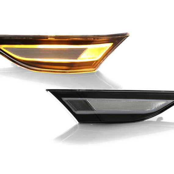 2012-2019 Porsche Carrera 911 / 2013-2020 Porsche Boxster / 2014-2020 Porsche Cayman 981 and 718 EURO Style Amber LED Clear Front Bumper Side Marker Light