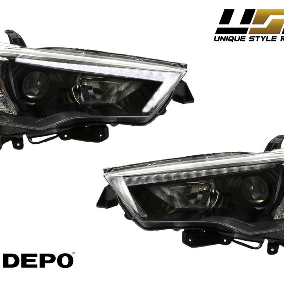 2014-2020 Toyota 4Runner White LED DRL Eyelid Light Bar Black Housing 2021 TRD Pro Style Built-In LED Low Beam Projector Headlight Made by DEPO-Lighting-DEPO- Description #matty {padding: 10px;width: 100%;height: auto; background-color: #eeeeee;}#matty p{font-family: Gotham,