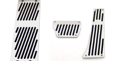 BMW E30/E32/E34E36/X5/Z3 3/5/7 Series AlumInum With Rubber Insert Pedals / Footrest Dead Pedal / Handbrake-Interior Accessories-Unique Style Racing- Description Fitment Choose your vehicle applications accordingly as followed: • This Dead Pedal is slightly curved at top - 12.8 in. (height) x 4.4 in (bottom) x 3.3 in. (top) - Fit For: - 2010+ BMW F10 / F11 All Models • 2004-2009 BMW E60/E61 All Models • This Dead Pedal is slightly curved at bottom - 11 in. (height) x 2.8 in (bottom) x 3.2 in. (to