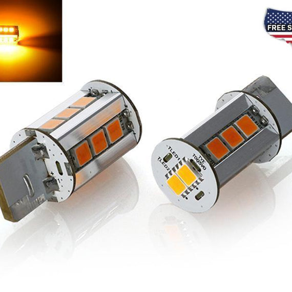 Brightest 2000 Lumen Canbus Error Free Amber LED x2 Headlight or Tail Light Turn Signal Light Bulbs - Size T20 7440-Lighting-Unique Style Racing- Description #matty {padding: 10px;width: 100%;height: auto; background-color: #eeeeee;}#matty p{font-family: Gotham,