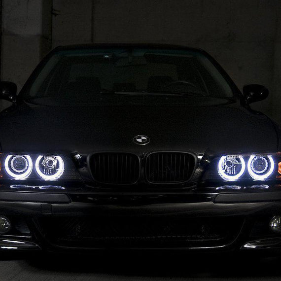 Unique Style Racing UHP (Ultra High Power) LED Angel Eye Halo Rings For DEPO Brand of BMW E36/E39 Euro Headlight
