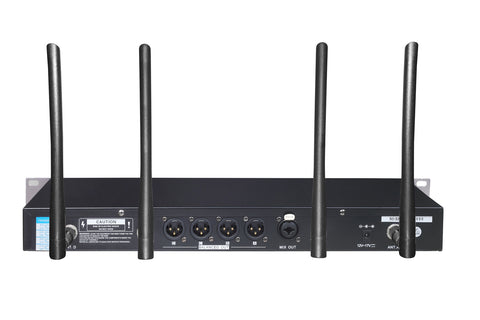 IDOLMAIN UHF-668 Professional 4 Channel Wireless Handhelds With New Digital Pilot Technology & Vocal Support Microphone System NEW 2020