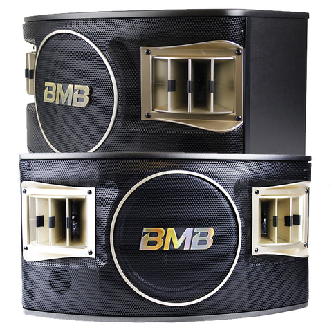 BMB CSV480 500W 10 3 way Karaoke Speakers (pair) with Free Speaker Wires, Two Stands - MODEL 2020