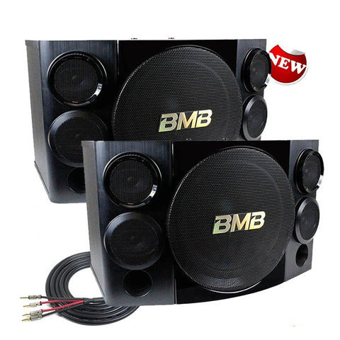 "BMB CSE-310II 500W 10"" 3-Way Karaoke Speakers (Pair) /w Free Speaker Wires - Model 2020"