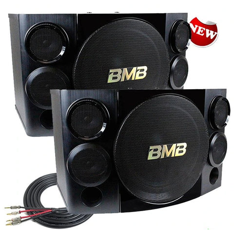BMB CSE-312 800W, 800W 12 3-Way Karaoke Speakers (Pair) with Free Speaker Wires - Model 2021