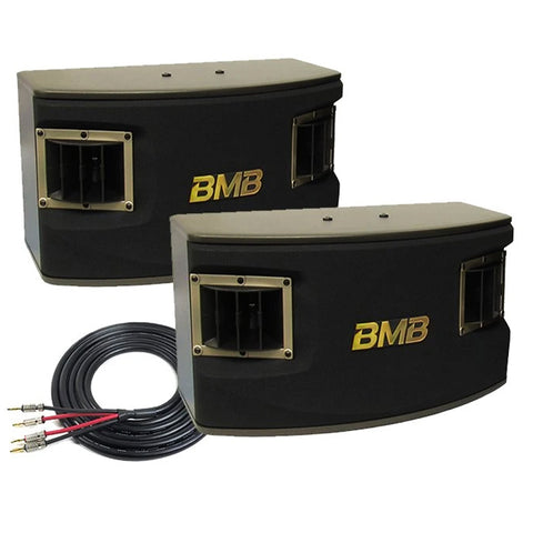 BMB CSV-450 500W 10 3-Way Karaoke Speakers (Pair) with Free Speaker Wires - Model 2020
