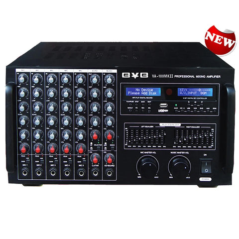 BVB VA-100MKII PROFESSIONAL 3000W DIGITAL CONSOLE DSP MIXING AMPLIFIER W- EQUILIZER, BLUETOOTH & RECORDING - MODEL 2020