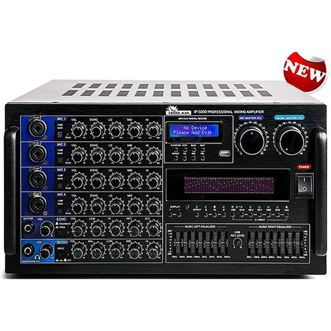 ( OPEN BOX - LIKE NEW ) IP-5000 - 6000W Professional Digital Karaoke Mixing Amplifier LED Graphic Spectrum Equalizer & Audio Processor With Feedback Reduction NEW 2021