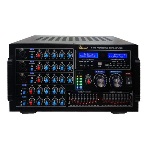 IDOLMAIN IP-5900 6000W Digital Echo Karaoke Mixing Amplifier With Repeat-Delay Control, HDMI-Optical Inputs NEW 2021
