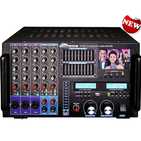 ( OPEN BOX - LIKE NEW ) IDOLMAIN IP-6000 II Bluetooth-HDMI-Recording-LCD Screen-10 Band Equalizer 8000W Professional Console Mixing Amplifier - MODEL 2020