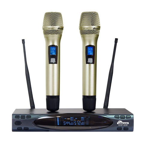 IDOLMAIN UHF-628 Auto Sound Cut Off When Dropping Dual Wireless Microphone ( MODEL 2021 )