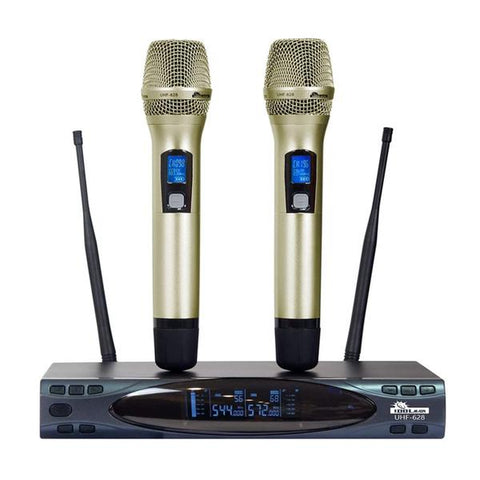 ( OPEN BOX - LIKE NEW ) IDOLMAIN UHF-628 Auto Sound Cut Off When Dropping Dual Wireless Microphone ( MODEL 2020 )