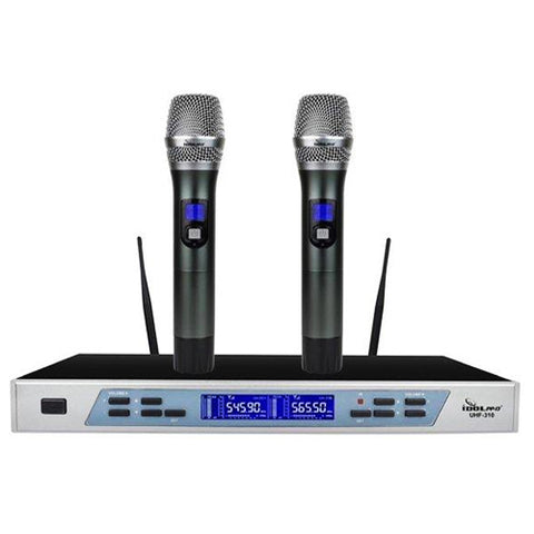 IDOLpro UHF-310 Professional Intelligent Dual Wireless Auto Noise Cancellation Microphone System - NEW 2021