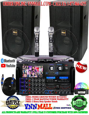 KARAOKE SYSTEM 27 - BMB CSS PROFESSIONAL MODEL 2020 - 4000 WATTS - YOUTUBE APP: PHONE, IPAD, SMART TV
