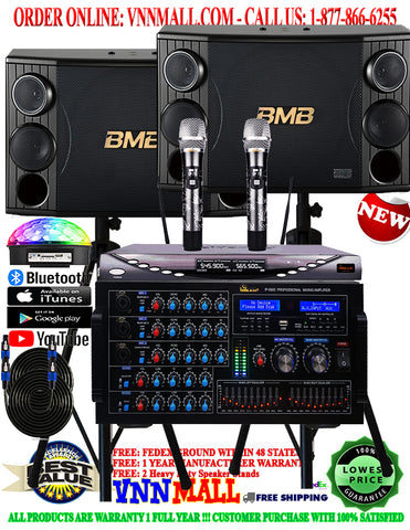 KARAOKE SYSTEM 38 - NEWEST MODEL: 2020 - 2400 WATTS ( 1200W + 1200W ) - BMB CSD-2000 - IP 5900 - YOUTUBE KARAOKE SYSTEM