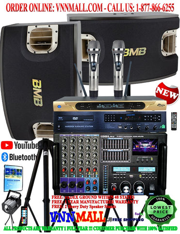 KARAOKE SYSTEM 5 - NEWEST MODEL: 2020 - 2400 WATTS - BMB CSV-900 3-Way 5 Speakers - IP6000 II - UHF626 - 60,000 Songs