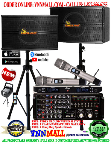 KARAOKE SYSTEM 8 - NEWEST MODEL: 2020 - YOUTUBE - BLUETOOTH KARAOKE 1000 WATT